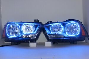 Dodge Charger 2011-2014 Pre-Built Headlights LED RGB Angel Eyes Halo Ring