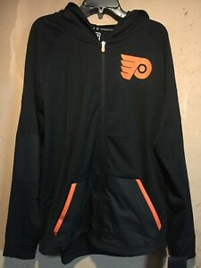 Philadelphia Flyers NHL Fanatics Full Zip Authentic Pro Hoodie in size X-Large