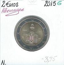 2 Euros - ALLEMAGNE - 2015 - Lettre: G // Qualité: Neuve