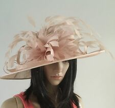 NIGEL RAYMENT NUDE OCCASION WEDDING HAT MOTHER OF THE BRIDE FEATHERS