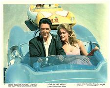 VIVA LOVE IN LAS VEGAS ELVIS PRESLEY ANN MARGRET IN RACE CAR ORIGINAL LOBBY CARD