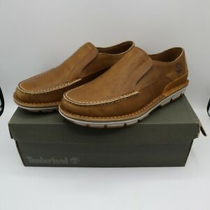 Men's Timberland Coltin Slip On Loafers TB0A1A6P Size 9 Full Grain Leather Beige