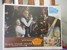 Set of 2 ORIGINAL Lobby Cards 1976 AT THE EARTHS CORE pulp fIction sci fi