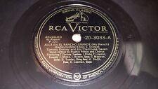 TOMMY DORSEY & CLAMBAKE SEVEN Alla En El Rancho/ Chinatown 78 RCA Victor 20-3033
