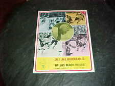 1975 Salt Lake City Golden Eagles v Dallas Black Hawks WHL Hockey Program 1/27
