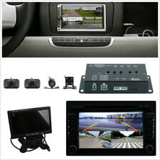 "DC12V 360° Vehicle Panoramic Surround View System DVR 4-CH 7"" HD TFT LCD Monitor"
