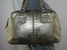 MICHAEL KORS ASTOR Small Studded Leather Shopper Doctor Tote Satchel Purse Bag