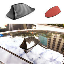 Black Carbon Fiber Style Car Shark Fin Shape Adhesive Roof Decorative Antenna