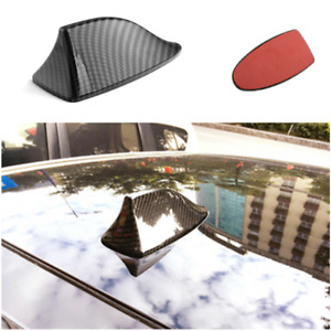 Black Carbon Fiber Style Car Shark Fin Shape Adhesive Roof Decorative Antenna