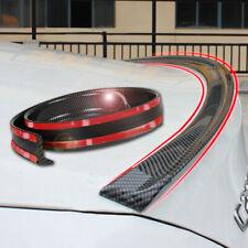 "59"" Carbon Fiber Universal Spoiler Rubber Rear Roof Trunk Molding Lip Sport Wing"