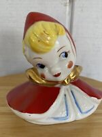 VINTAGE HULL ? POTTERY LITTLE RED RIDING HOOD TEAPOT LID ONLY