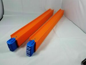 """10 Pack Hot Wheel Straight Track Pieces, 21"""" Long, With Connectors FAST SHIPPING"""