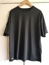 L10 Nike Performance Gray Short Sleeve Polyester Shirt Mens Large