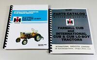 INTERNATIONAL HARVESTER CUB TRACTOR SERVICE REPAIR MANUAL PARTS CATALOG 1964-79