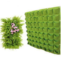 Wall Hanging Planting Bags Multi Pockets Grow Bag Planter Vertical  Garden Bag