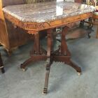 Victorian Marble Side Table Eastlake