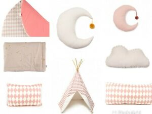 New Nobodizon Set of 8 Teepee Blanket Pillows Kids Play Tent for Children 585$