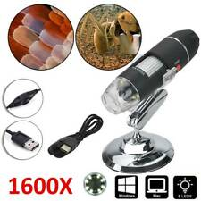1600X Zoom 8 LED USB Digital Microscope Magnifier for PC Android phone Tablet