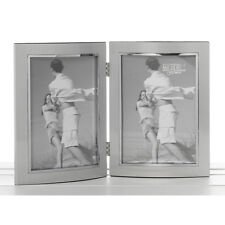 Double Silver Photo Frame 5x7 inches NEW