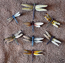 Dragonfly Magnets Set of 8 Multi-Color Insects Refrigerator Magnets Gifts