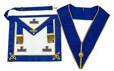 Masonic Regalia- Craft Provincial undress apron & collar (Lambskin)