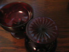 Vintage 3 Ruby Red Glassware Items