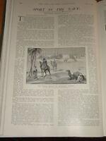 1901 Sport Blu Navy Anatra Tiro Karachi East India Ecc.