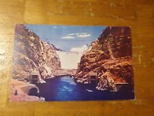 Vintage Postcard Spectacular View Of Hoover Dam From River Level, Nevada