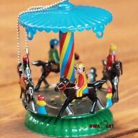 Christmas Tree Ornament Carousel Horse Merry Go Round Tree Tinplate Tin Gift