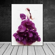 Wall Art Picture Canvas Painting New Flower Figure Decor Home Floral Women Dress