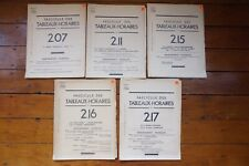 1947 SNCF Fascicule Horaires French Francais Railway Working Timetable x5