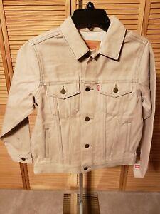 Levi's Jean Jacket Kids TAN Denim Trucker Boys  New $58