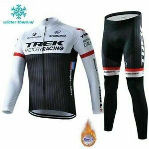 TREK Winter Thermal Fleece Cycling Jersey Road Bike Gel Pants Bicycle Clothes