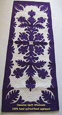 Hawaiian quilt 100% hand quilted/appliquéd handmade table runner HIBISCUS