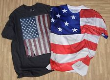 American Flag Shirt Set ~ Men's XL ~ Get A Life Well Worn Forth of July 4th