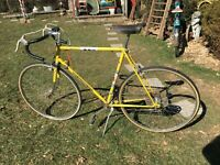 """VINTAGE PEUGEOT BICYCLE; 24"""" Boys Yellow 10 Speed  """"RACER;"""" EARLY 1970s"""