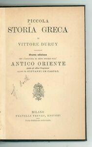 DURUY VITTORE PICCOLA STORIA GRECA E DELL'ANTICO ORIENTE TREVES ANNI '20