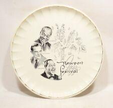 Rare 1958 Newport Jazz Festival Plate Duke, Louis, Bennie