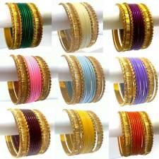 12-tlg Armreifen Set Armschmuck Schmuck Armband Bollywood Indien Choorian Orient