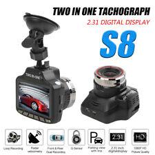 2 in 1 FHD 1080P HD Car Video Camera Recorder Dash Cam Radar Speed Detector DVR