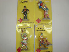 Set of 4 Different Clowns, Full Figures on Base  New In Packages Fun Cake Decor