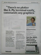 7/1977 PUB TEKTRONIX 4662 INTERACTIVE DIGITAL PLOTTER AVIATION DESIGN AD