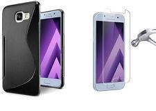Pour SAMSUNG Galaxy A5 (2017) A520 - Coque Gel Silicone S-Line + 1 VERRE Trempé