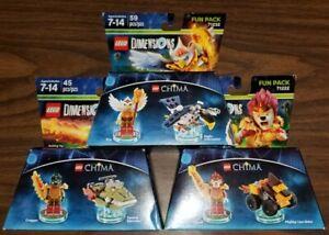 Lego Dimensions CHIMA Fun Pack LOT of 3 - 71222 71223 & 71232 Eris Cragger Laval