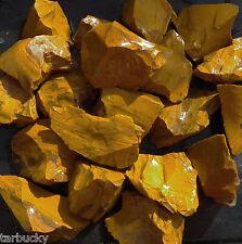 2 LB YELLOW JASPER Rough Rock for Tumbling Tumbler Stones from BRAZIL