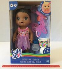 Baby Alive Face Paint Fairy Doll African American AA Dark Brown Hair Age 3+ NEW