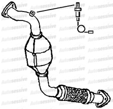 VW Touareg 3.0Tdi Bks Suv 04-10 Exhaust Front Pipe And Catalyst Underfloor Part