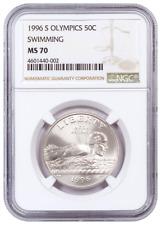 1996-S NGC MS70 Olympics Swimming Commemorative Half Dollar Coin