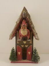 Pam Schifferl Santa's House Ornament Santa in the chalet midwest cannon falls