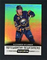 2017-18 UD Upper Deck Synergy Noteworthy Newcomers #NN-19 Alexander Nylander